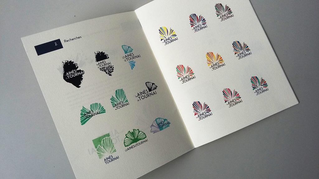 Création logo: la charte graphique qui présente l'univers visuel construit autour des aînés de Tournai