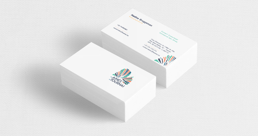Business cards for the elder council of Tournai