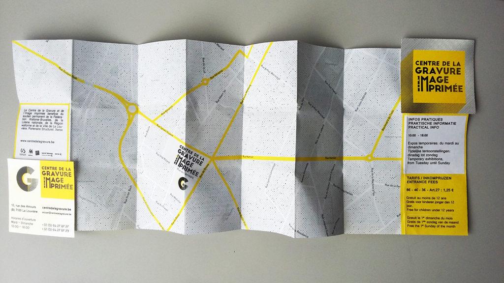 branding sur publicité de type flyer