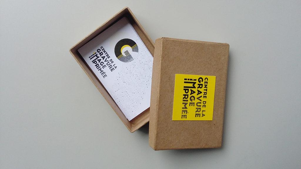 cartes de visites typographiques