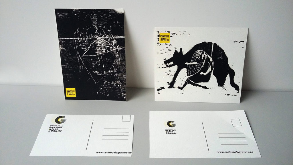 watermark et cartes postales avec branding