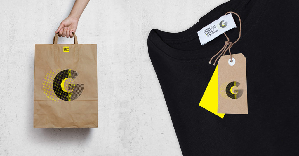 logo and branding museum: t-shirt and paper bag