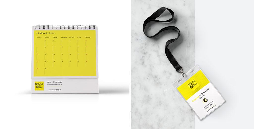 logo & branding museum: calendar & badge