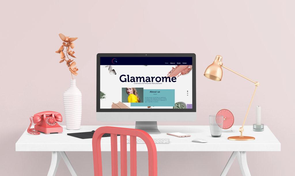 Image de marque Glamarome. Proposition de site web