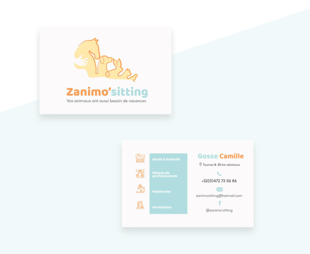 Cartes de visites zanimo'sitting