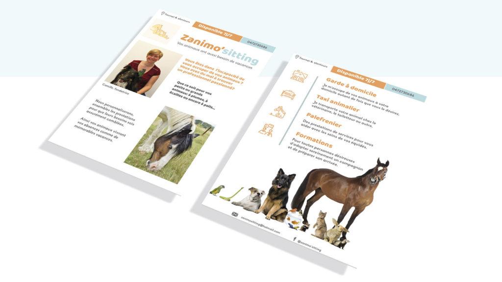 Flyer and brochure design pet-sitting