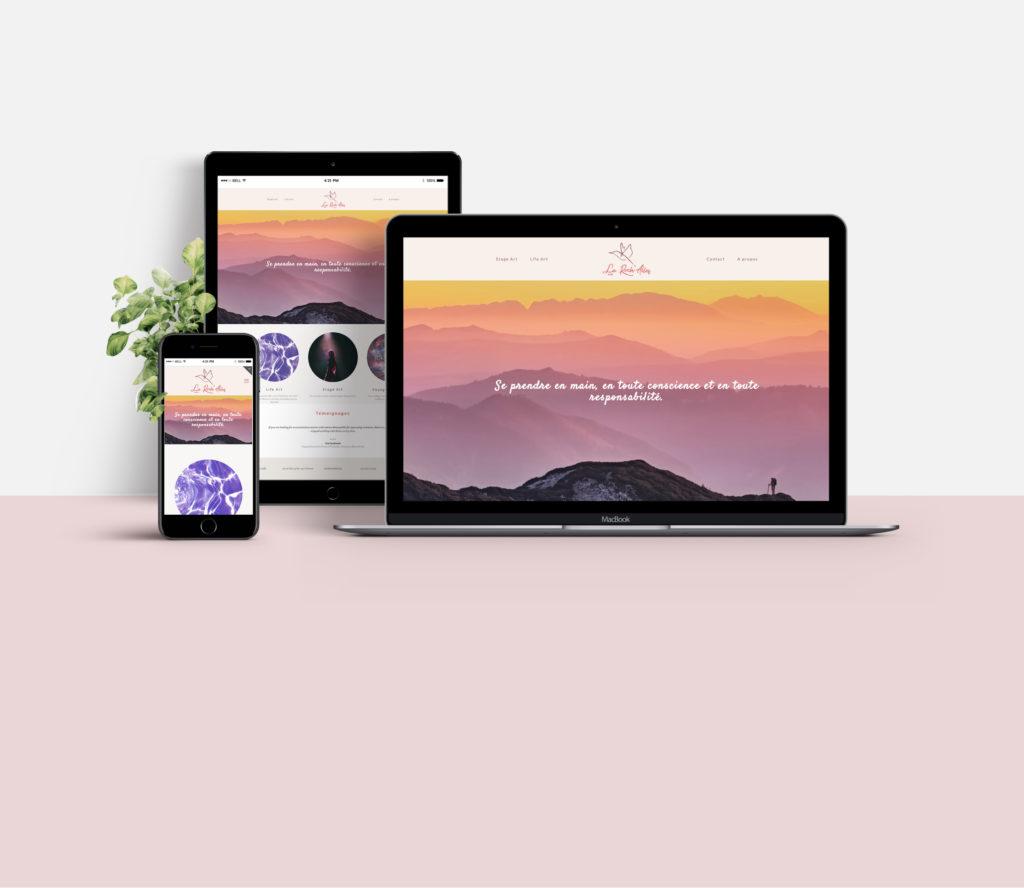 site web responsive wordpress la roch'ailes asbl