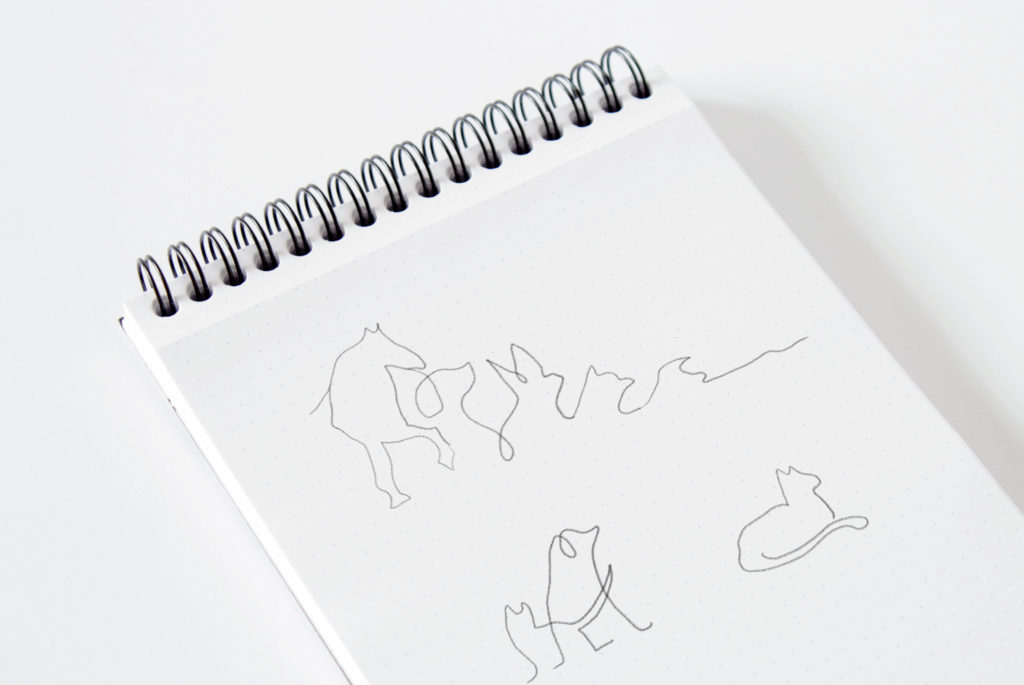 Sketches logo design pet-sitting