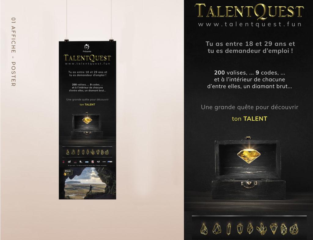 branding talentquest, poster design