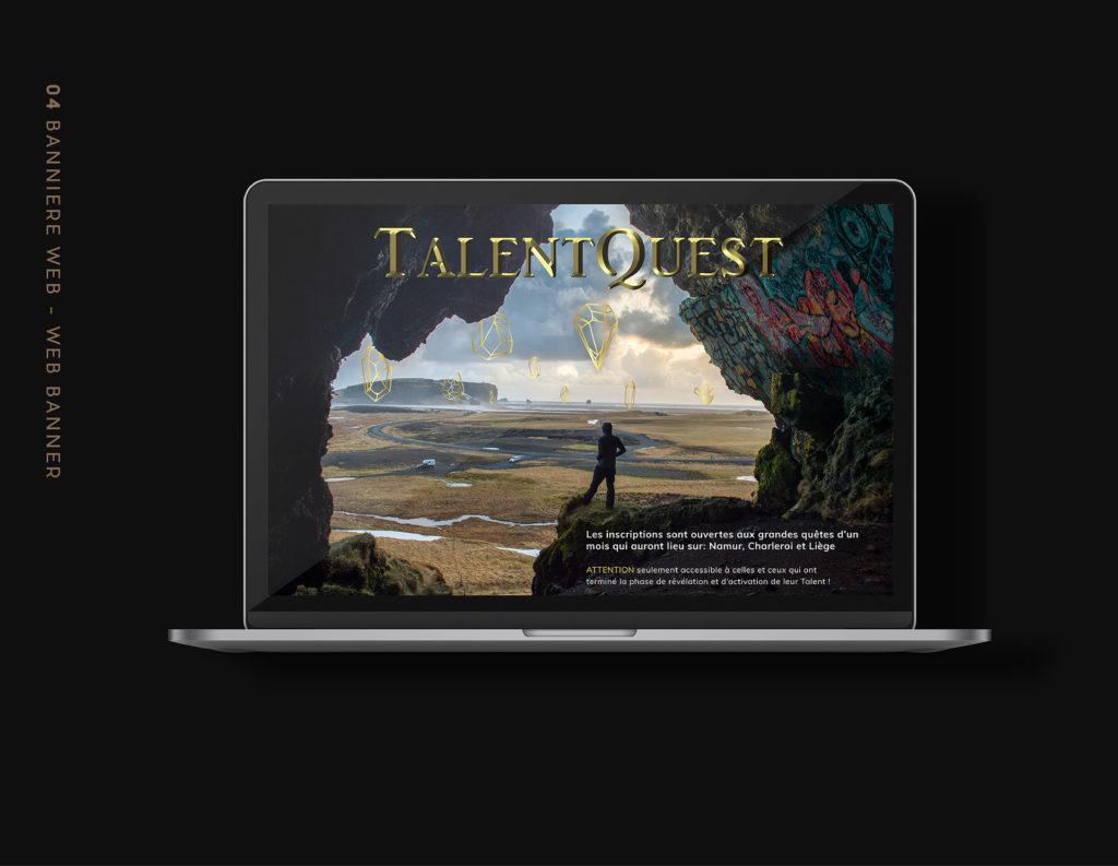 Web Design - Landing page Talent Quest