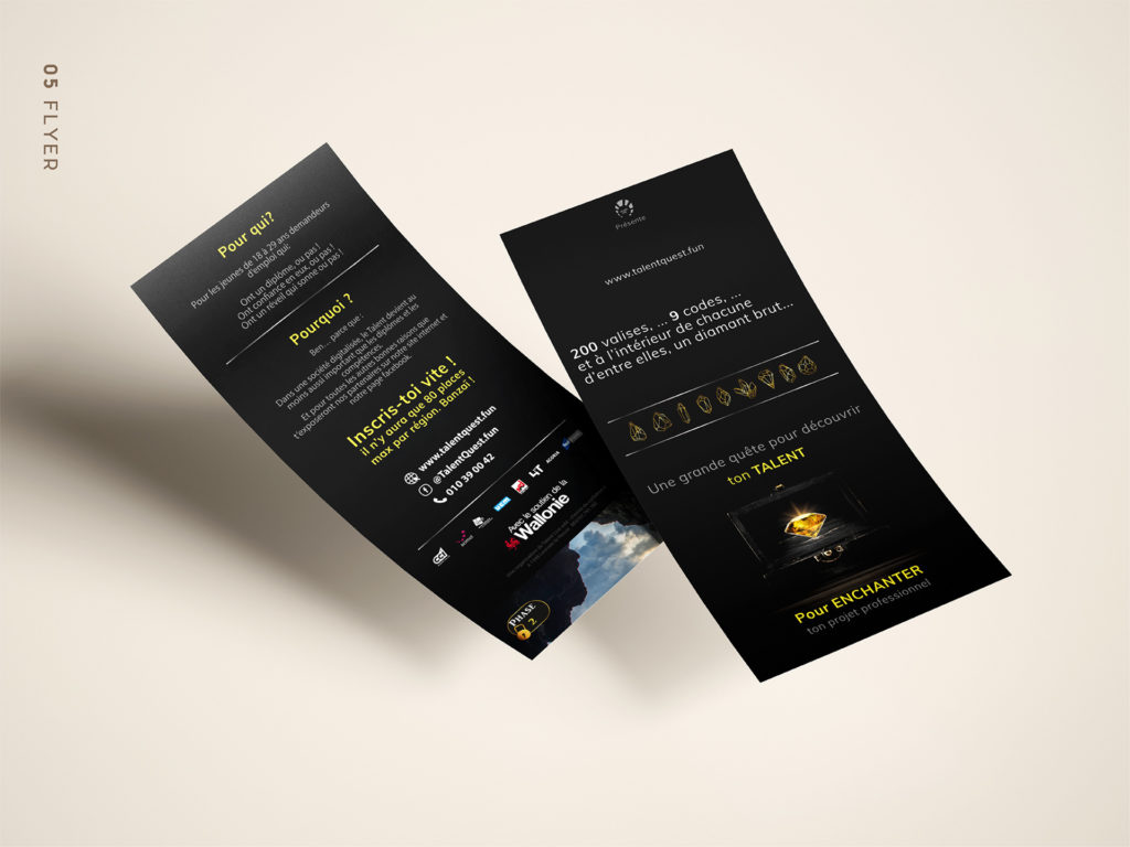branding talentquest: flyers