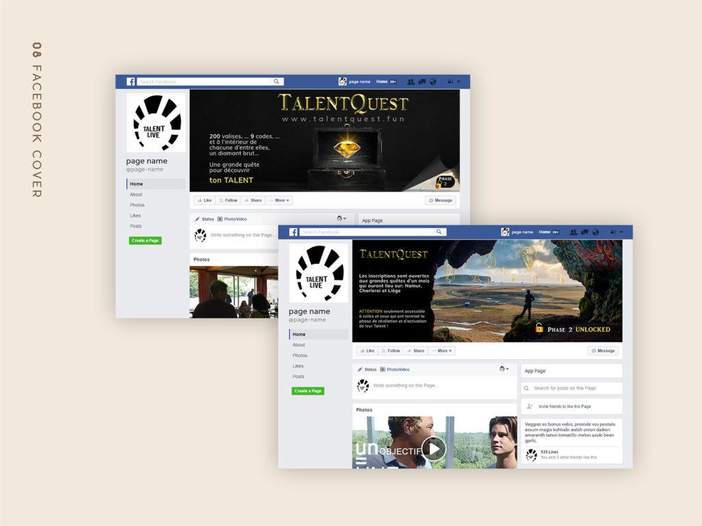 Web Design : Facebook cover image